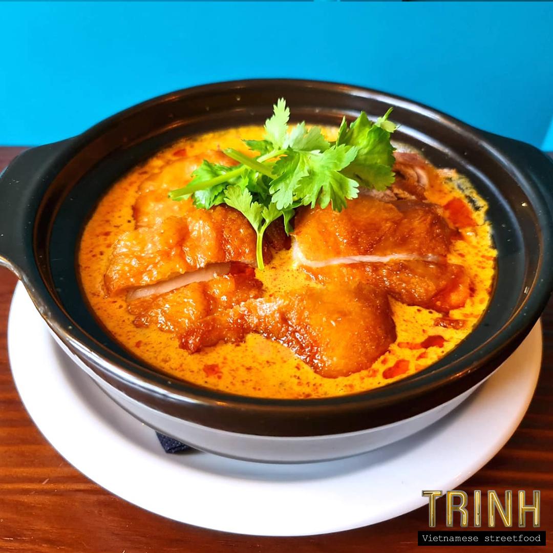 Vietnamese curry met eend